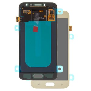 LCD compatible with Samsung J250 Galaxy J2 (2018), J250 Galaxy J2 Pro (2018), (golden, with touchscreen, original (change glass) )