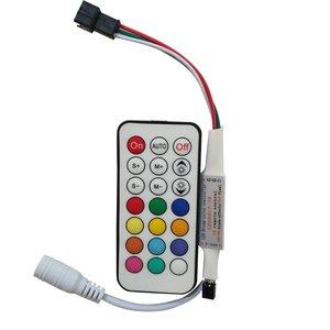 LED Controller with IR Remote Control LED2017-IR (RGB, WS2811, WS2812, WS2813, 5-24 V)