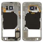Parte media de carcasa puede usarse con Samsung G920F Galaxy S6, negra