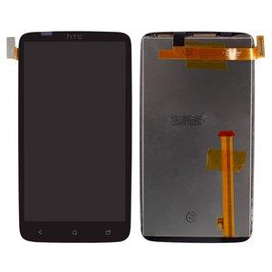 Дисплей HTC G23, S720e One X, X325 One XL, черный, с сенсорным экраном