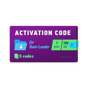 Активационный код Boot-Loader 2.0 (1 год, 5 кодов х 150 ГБ)