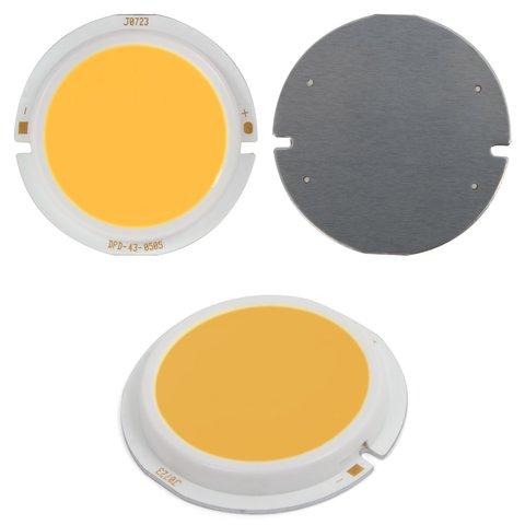 COB LED модуль 5 Вт теплий білий, 450 лм, 43 мм, 300 мА, 15 17 В