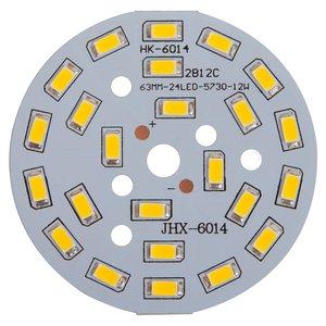 Плата со светодиодами 12 Вт (холодный белый, 1440 лм, 63 мм)